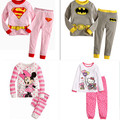 Children Pajamas Cotton Nightwear Superman Cartoon Loungewear Kids Boys Girls Homewear Spring Autumn Sleepwear Free Drop Ship