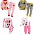 Niños pijamas ropa de dormir de algodón de dibujos animados de Superman niños Loungewear niños niños niñas Homewear otoño primavera ropa nave de la gota libre