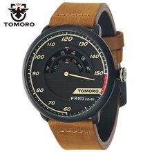 TOMORO Brand Race Original Design Men Luxury Sport Fashion Genuine Leather Quartz Halloween Gift Watches Relogio Masculino 2016