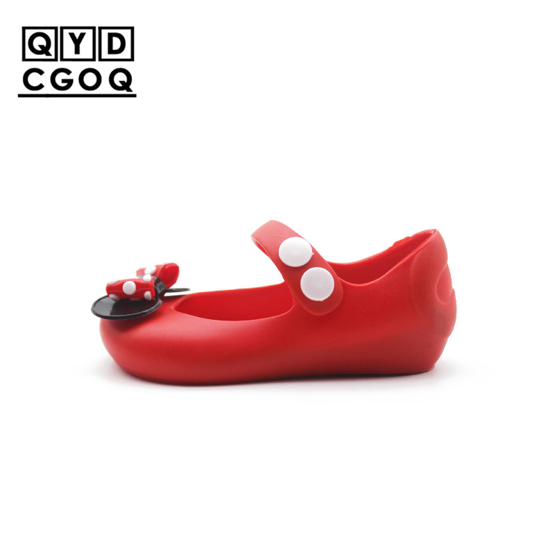 Mini Melissa Style Polka Dot Bow Jelly Sandals Girls Mickey Bow 2018 Girls Sandals Sandal Comfortable 5 Color Toddler Shoes