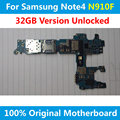 For EU Vesion Samsung Galaxy Note 4 N910F Motherboard 32GB Unlocked Mainboard With Chips Official Logic Board 100% Good Working