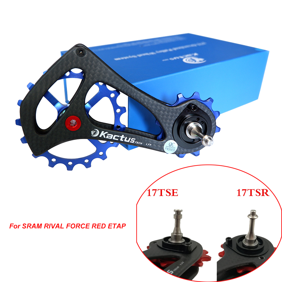 Hot Sale 12-17T Bicycle Derailleur Pulleys Carbon Fiber Frame Ceramic Bearing Jockey Wheel Pulley for SRAM RIVAL FORCE RED ETAP ztto 11t mtb bicycle rear derailleur jockey wheel ceramic bearing pulley al7075 cnc road bike guide roller idler 4mm 5mm 6mm