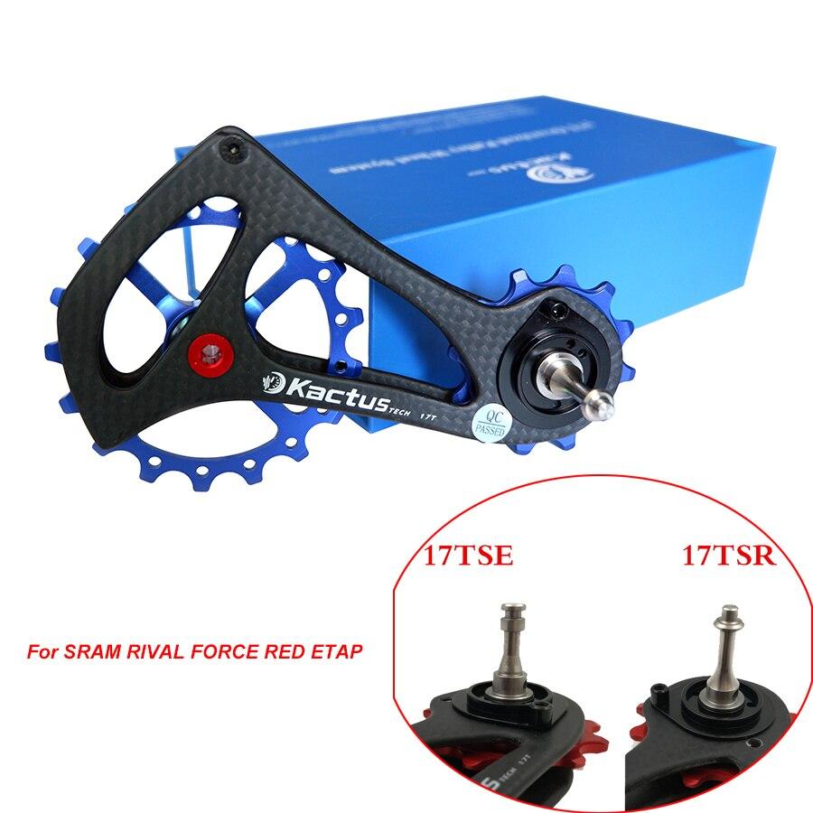 Offre spéciale 12-17 T poulies de dérailleur de vélo cadre en Fiber de carbone roulement en céramique poulie de roue Jockey pour SRAM RIVAL FORCE rouge ETAP