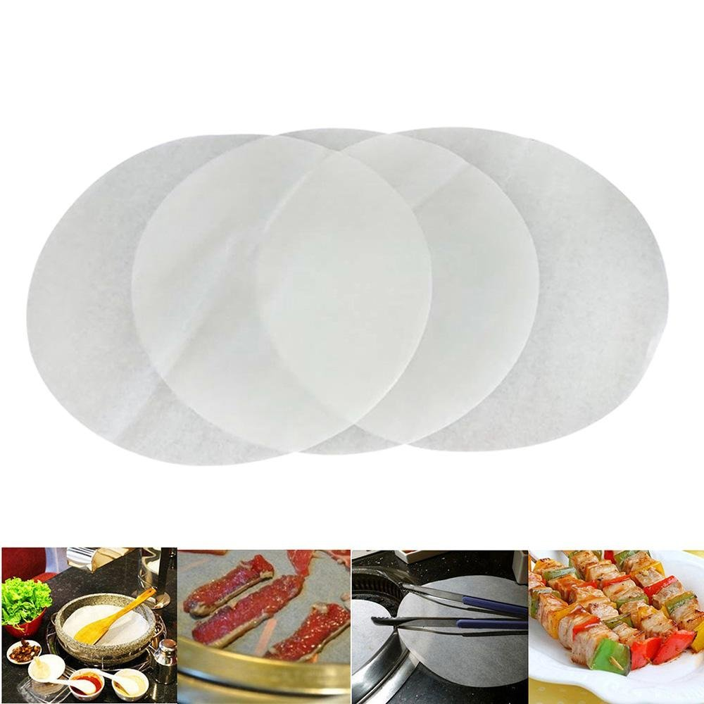 100pcs Round Parchment Paper 6 Inch Circle Steamer Baking Liners Non Stick Pre Cut Baking Sheets Paper For Round Cake Pan Baking Co Ng Christmas Gift