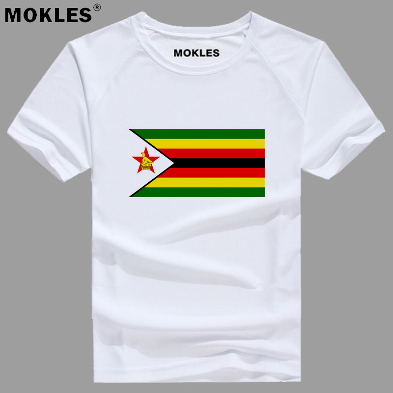 ZIMBABWE t shirt diy free custom name number zwe t-shirt nation flag zw country college yeZimbabwe zimbabwean photo text clothes