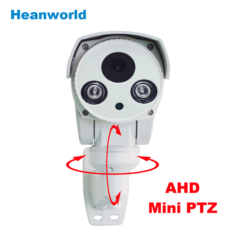 AHD Mini PTZ Camera Pan/Tilt 720P Rotary Bullet camera with 6mm lens Night Vision outdoor waterproof CCTV security camera system bullet camera tube camera headset holder with varied size in diameter