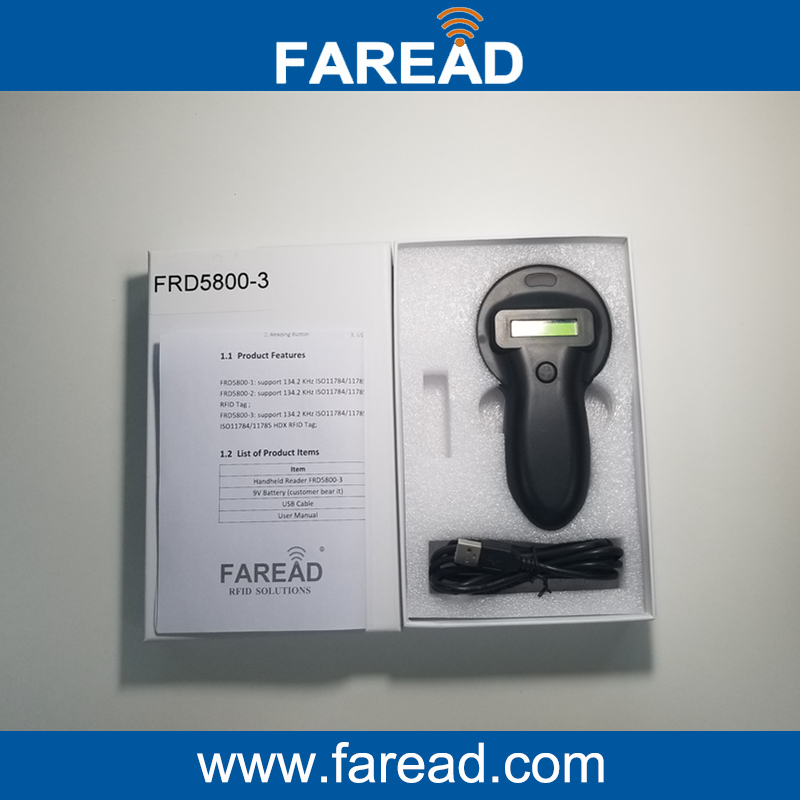 HDX&FDX-B 134.2KHz Animal RFID tag Reader ISO 11784/85