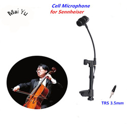 Professional Cello Microphone Condenser Instrument Microfone for Sennheiser Wireless Microphones System TRS 3.5mm Screw Jack