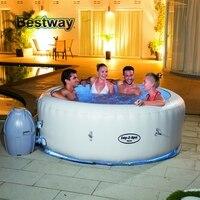 54148 Bestway 77 x 26/196x66 см Палм Спрингс AirJet надувная ванная набор большой круглый толстый надувной семейный бассейн для 4 6