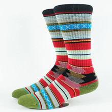 Мужские носки для катания на коньках Guada Bohemia Strip, американский размер 6-11, европейский размер 39-44