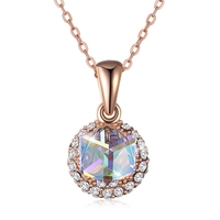 High Quality 925 Sterling Silver Pendants Necklaces Jewelry For Women With Chain Cubic Zircon Crystal Necklaces Accessories Lady