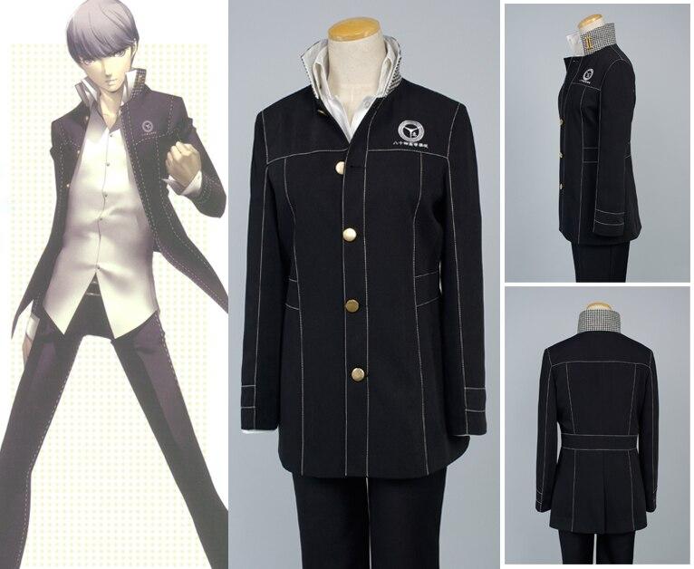 Shin Megami Tensei Persona 4 Yasogami Yu Narukami Cosplay Kostuum Volwassen Mannen Jongen Schooluniform Kostuum