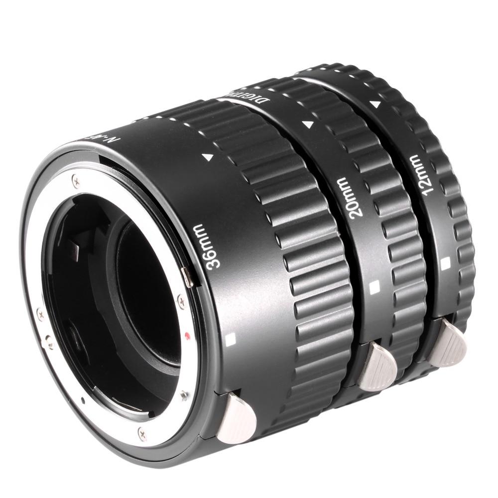 Neewer 12mm 20mm 36mm Black Auto Focus Macro Extension Tube Set for Nikon SLR cameras Nikkor AF AF-S D G VR lens series (Metal) meike mk n af1 b auto focus macro extension tube ring plastic for nikon d800 d90 d3200 d5000 d5100 d5200 d7000 d7100 camera dslr