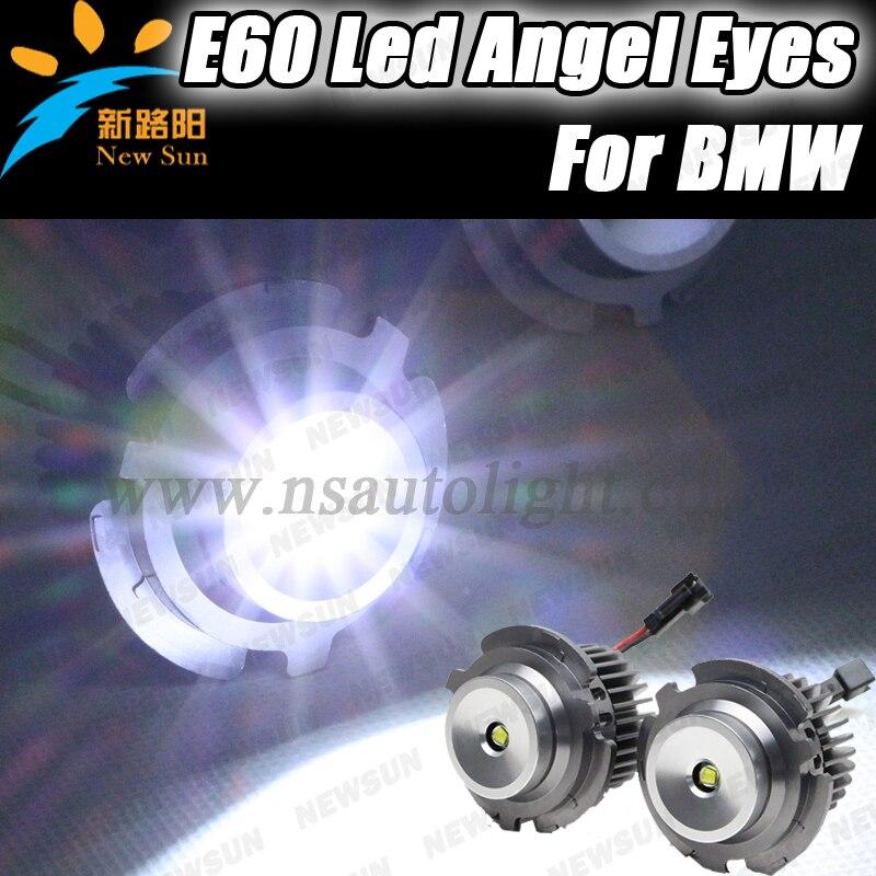 Wholesale 10W Cree chips LED Halo light Bulbs for BMW Angel Eyes Lamps 12V 24V led marker for BMW E60