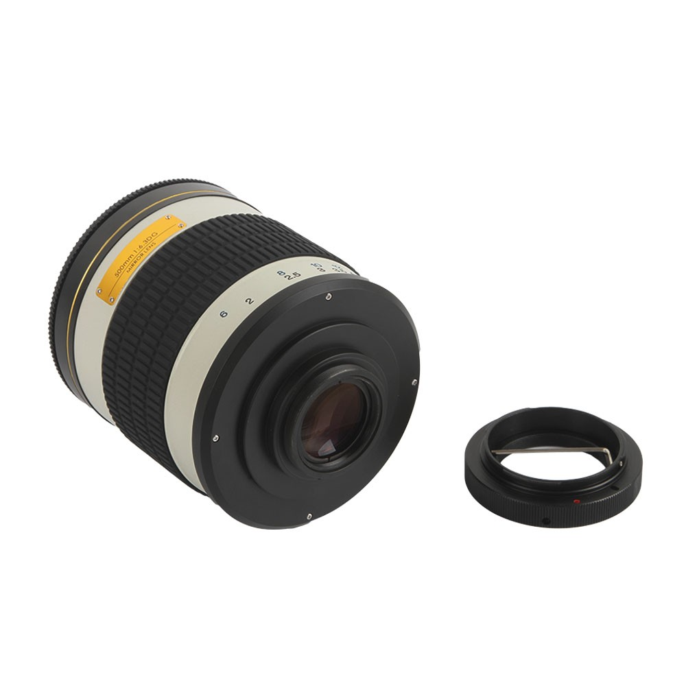 500mm F/6.3 Telephoto Mirror Lens + T2 Mount Adapter Ring for Canon Nikon Pentax Sony Olympus DSLR 8