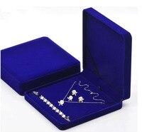 Caja para la joyería al por mayor envío libre 3 unids/lote cajas de embalaje de la joyería Anillo del pendiente del collar caja 19*19*4 cm
