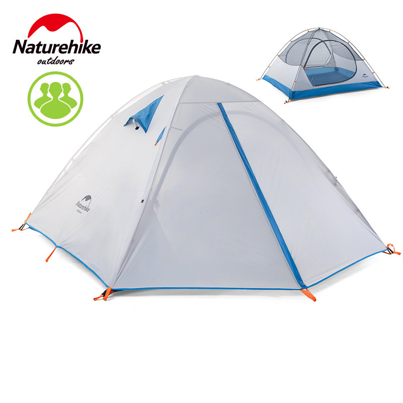 Naturehike Out Camping Tent 3 Double Layer Tents 210*165*110CM Hiking Travelling Playing Party Event House Tent outdoor double layer 10 14 persons camping holiday arbor tent sun canopy canopy tent