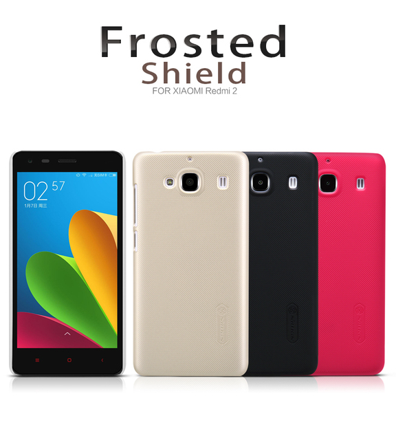 online store d8485 61b2f US $7.57 |Xiaomi Redmi 2 Nillkin Super Frosted Shield Case Back Cover For  Xiaomi Red Rice 2 High Quality Case with Screen Protector-in Fitted Cases  ...
