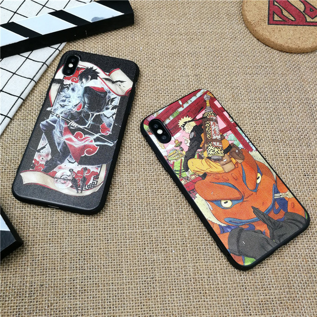 Naruto 3D Relief Soft Silicone Case for iPhone