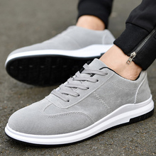 Solid colors vulcanized shoes men sneakers platform lace-up sneaker size 6-10.5 Non-slip mens shoes casual sapato masculino