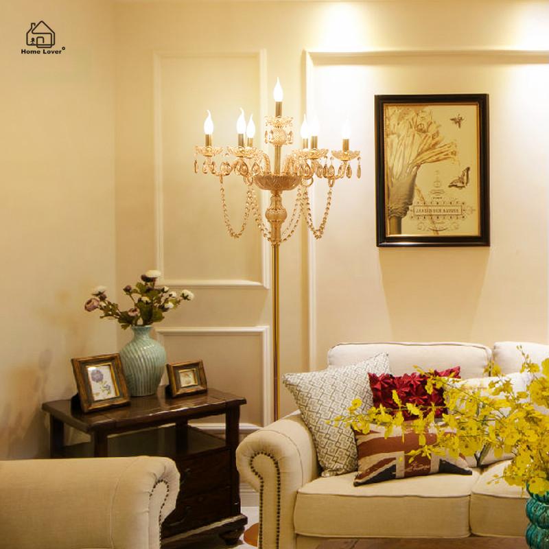 lmparas de pie de cristal moderna para el dormitorio sala de estar comedor cocina lampara de
