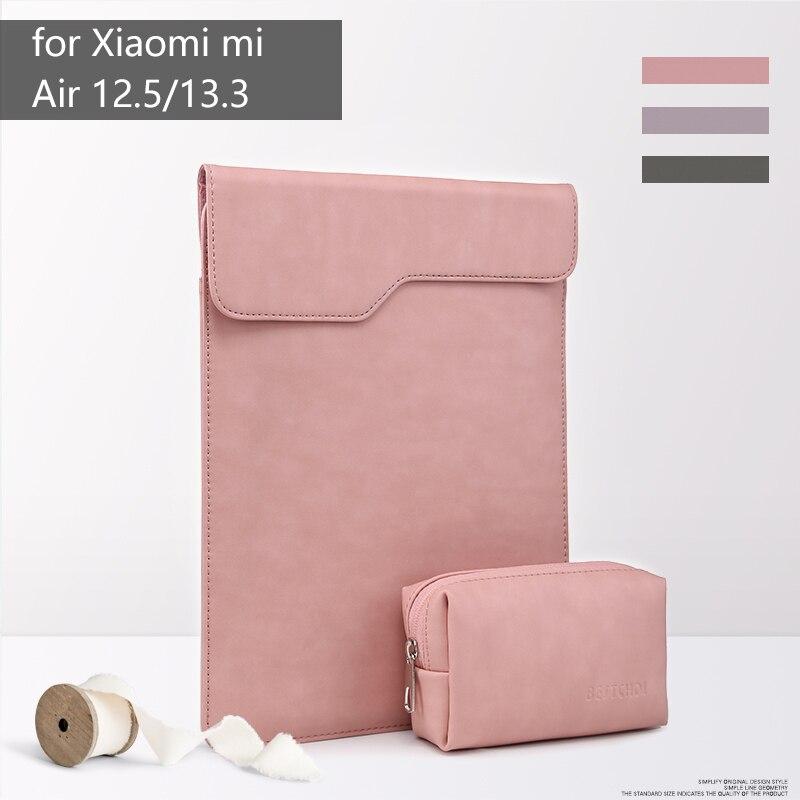 BESTCHOI Pu Leather Laptop Bag Sleeve for Xiaomi mi notebook air 12.5