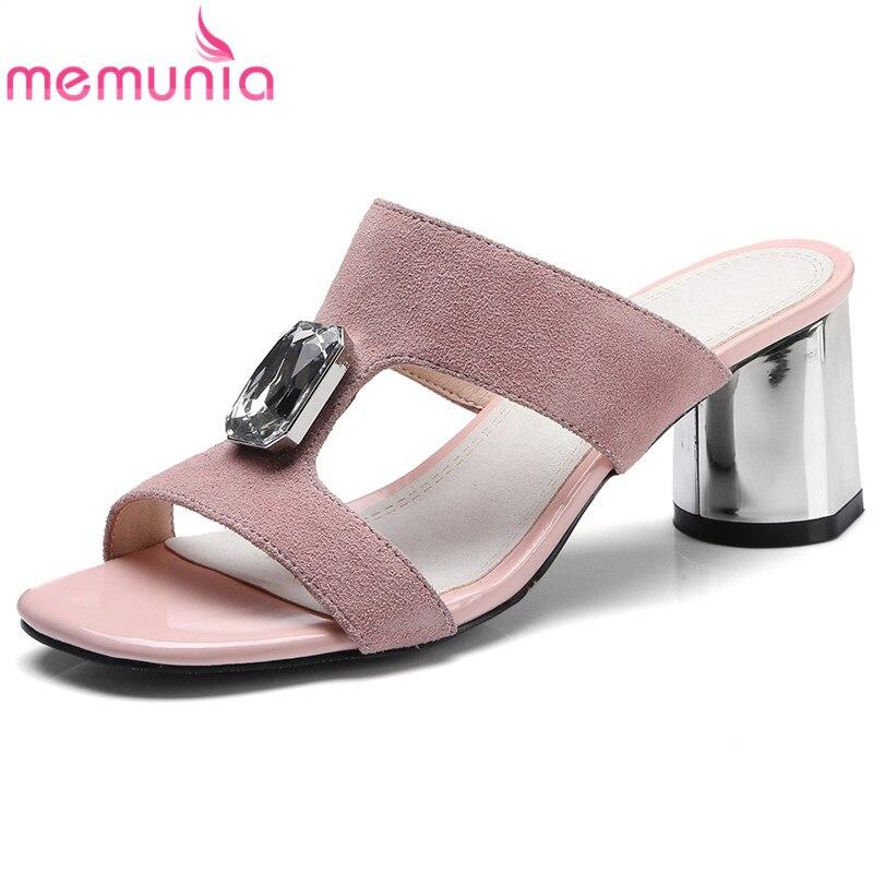 De Tamaño Mujer Fiesta Diamantes Color Dulce Boda Memunia Gris Sandalias Sólido Rosado Plus Zapatos 44 qw0BES