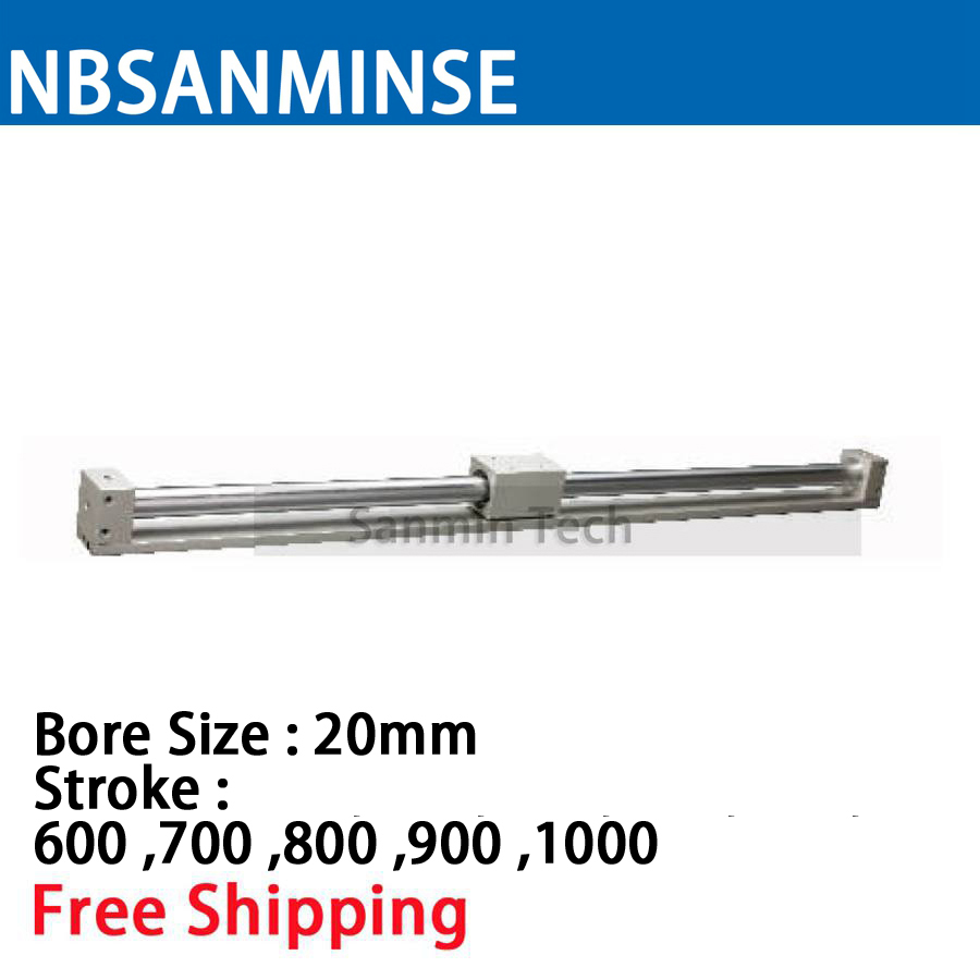 CY3R 20mm Bore Size Pneumatic Magnetically Coupled Rodless SMC Similar Parts Pneumatic Parts Compress Air Cylinder Sanmin cy1s 25mm bore air slide type cylinder pneumatic magnetically smc type compress air parts coupled rodless cylinder parts sanmin