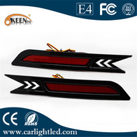 One set LED Rear Bumper Reflectors Light Brake Parking Warning Lights For 2010 Honda CRV Accessories Free shipping