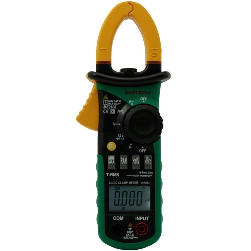 MASTECH MS2108 真の実効値 AC DC デジタルクランプメータ周波数突入電流テスター  グループ上の ツール からの クランプ メーター の中 1