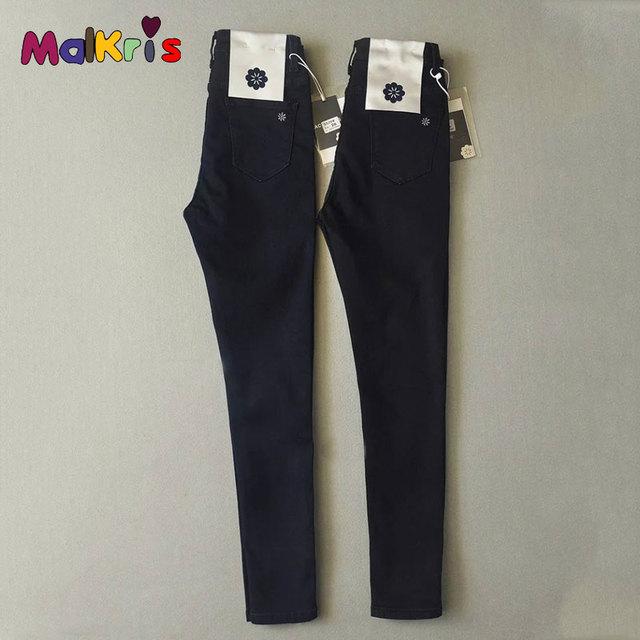 Calças de Brim Das Mulheres do vintage Preto 2017 Primavera Calça Jeans de Cintura Alta Mulher Femme Grande Elasticidade Calça Jeans Femininos Feminino Calça Jeans Mulheres Denim