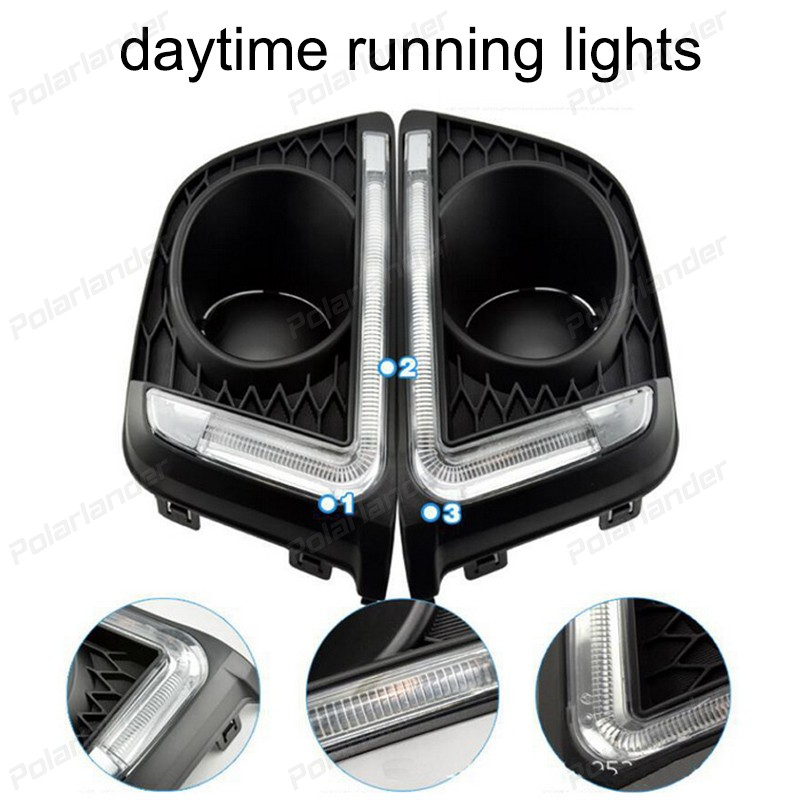 Car stylng for H/onda F/it Or Ja/zz 2014-2015 daytime running lights daylight headlght drl led