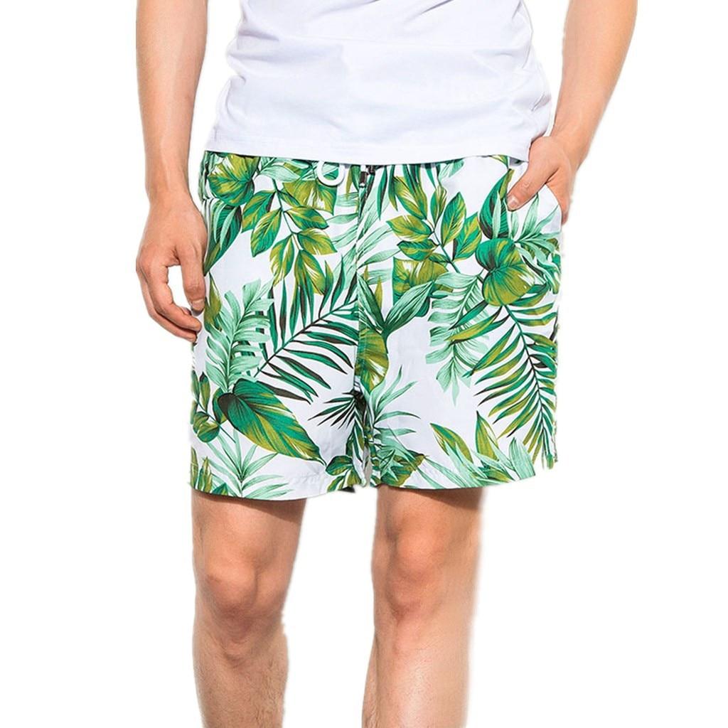 CHAMSGEND   Shorts   Men Beach   Shorts   Elastic Waist Trunks   Board   Pants Summer Drawstring Trunks Quick Dry Swimming   Shorts   19.JAN.13
