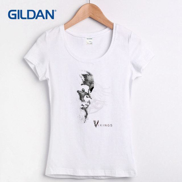 d71285ae3 Womens T-Shirt Buy Online 2017 The Vikings Ragnar Lothbrook Rollo Floki  Norse Norway Thor Lagertha T-Shirt Cotton