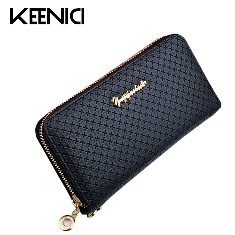 Black Fashion Wallet Women Long Ladies Korean Zipper Ladies Wallets Card Holder Female Coin Purses PU Leather Women Purse QL