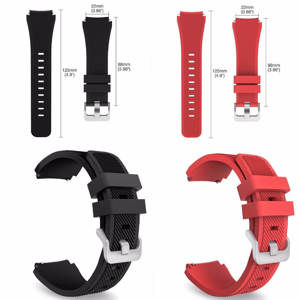 New Arrived 18 Colors Rubber Bands Wrist Strap for Samsung Gear S3 Frontier Silicone Watch Band Classic Bracelet Bands 22mm Size берестов мед горный аргентина 100 г