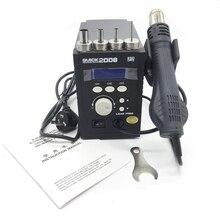Оригинал быстрый 2008 ESD для цифровой дисплей горячего воздуха пистолет сварки вентилятора 220В 120л/мин SMD паяльная станция
