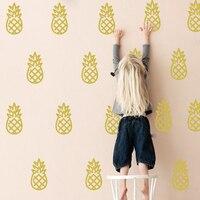 Cartoon Pineapple Home Decor Wall Stickers Baby Nursery Cut Pineapple Wall Decal Kids Room Easy Wall
