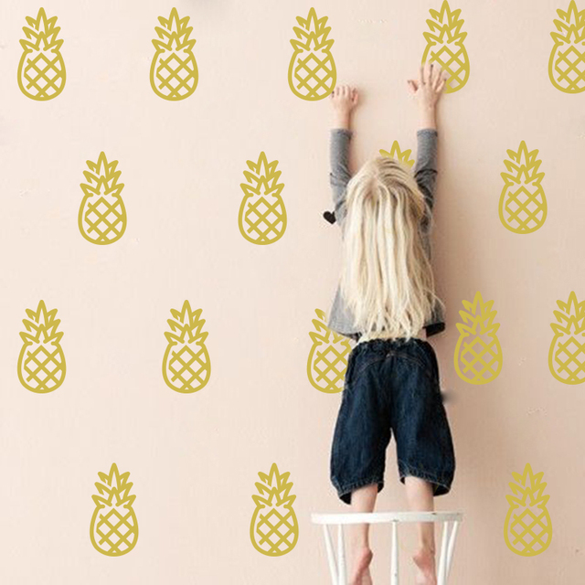 Cartoon Pineapple Home Decor Wall Stickers Baby Nursery Cut     Cartoon Pineapple Home Decor Wall Stickers Baby Nursery Cut Pineapple Wall  Decal Kids Room Easy Wall