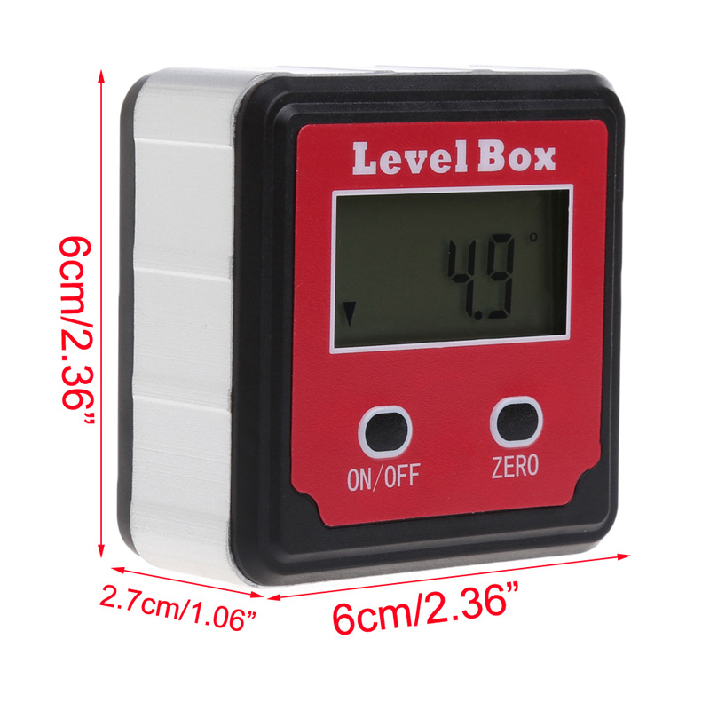 Durable Digital Inclinometer Spirit Level Protractor Angle Gauge Meter Bevel -W310 digital protractor inclinometer angle meter digital bevel box 4 x 90 degree range magnetic base