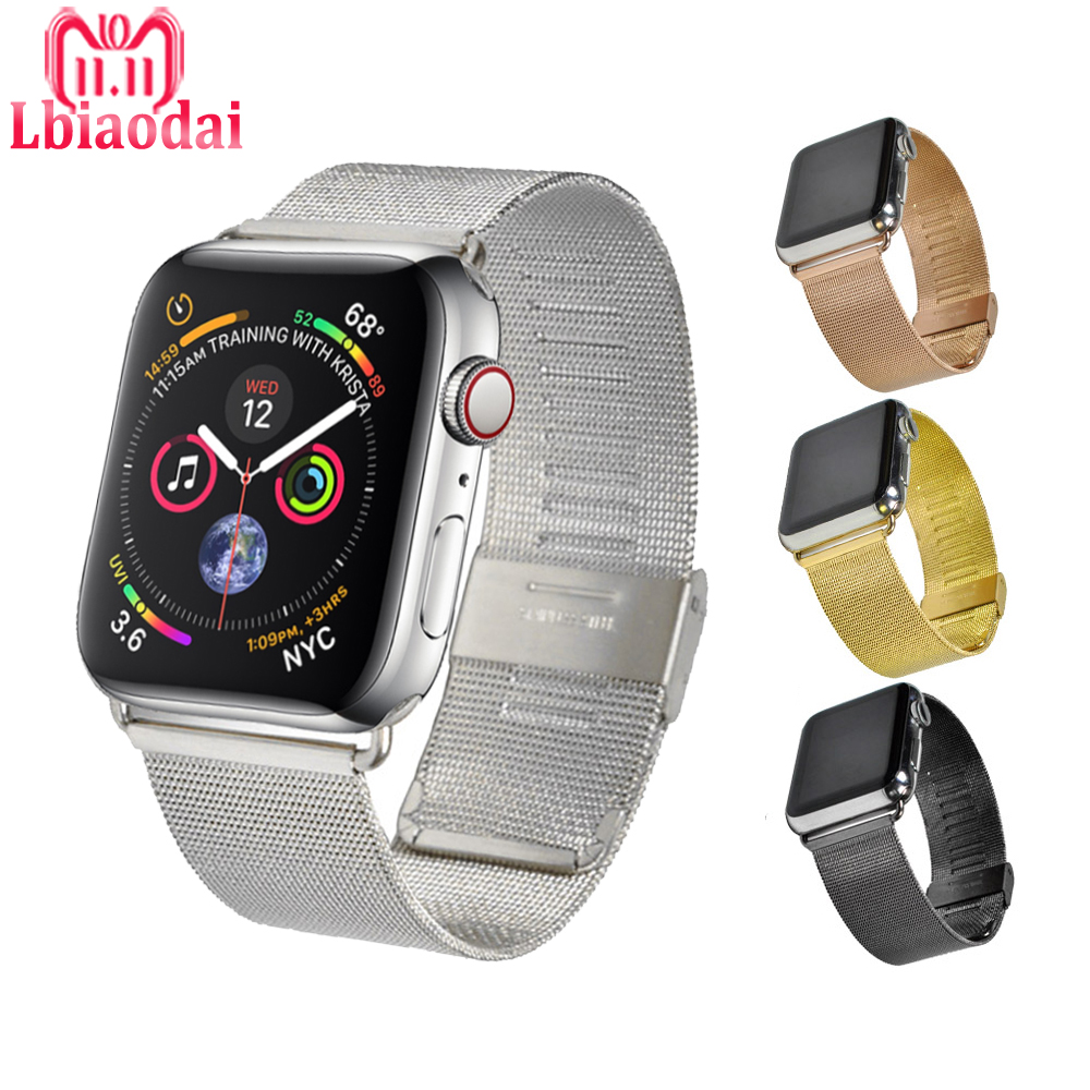 Milanese Loop Band For Apple Watch Strap 42mm 38mm 44mm 40mm Stainless Steel Watchband Bracelet for iwatch series 4/3/2/1 correa milanese loop strap for apple watch bands 42mm for iwatch band 38mm stainless steel metal bracelet mesh watchband serise 3 2 1