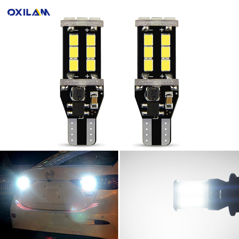 2x Canbus <font><b>T15</b></font> W16W <font><b>LED</b></font> Bulbs Reverse Lights 2835SMD <font><b>Car</b></font> <font><b>LED</b></font> Back Up Rear <font><b>Lamp</b></font> For BMW 5 Series E60 E61 F10 F11 F07 Mini Cooper image