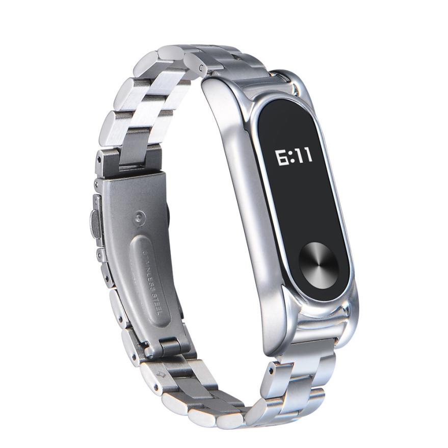 For Xiaomi Mi Band 2 Stainless Steel Luxury