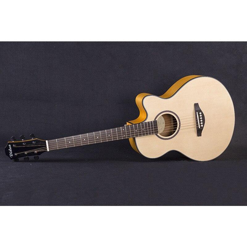 40 52 guitars 40 inch Acoustic Guitar Picea Asperata wood guitarra with guitar tuner strings