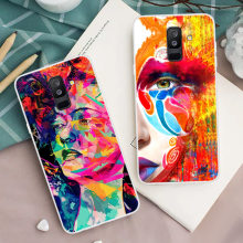 New Arrival Phone Case For Samsung Galaxy A6S A6 5.6-inch A6+ A6 Plus 6-inch Patterns Design Painted TPU Soft Case Cover(China)