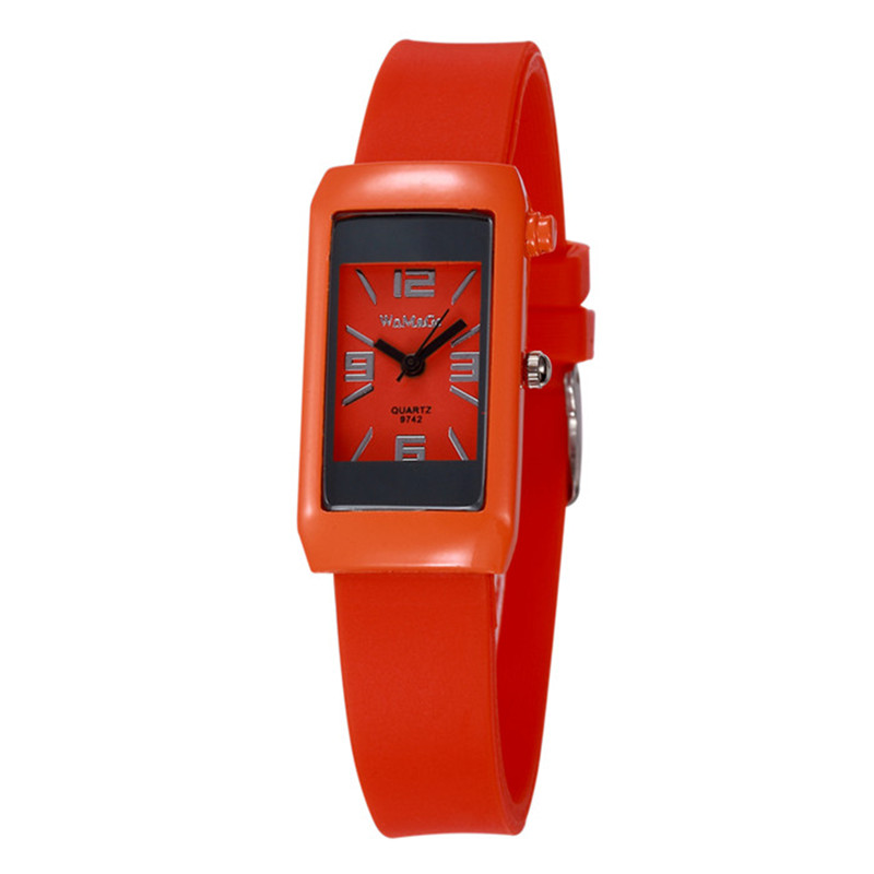 Cute Rectangle Pink Children's Watch 2019 New Stylish Boys Girls Jelly Casual Clock Hot Relogio Best Gift