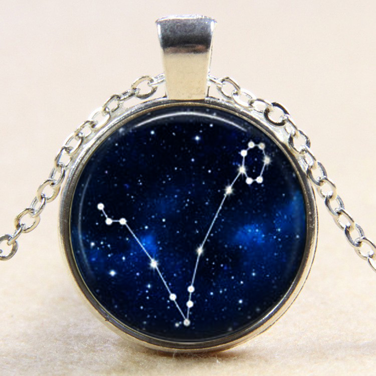 Jewelry & Accessories Galaxy Constellation Design 12 Zodiac Sign Horoscope Astrology Necklace For Women Men Glass Cabochon Pendant Necklace Gift We Take Customers As Our Gods