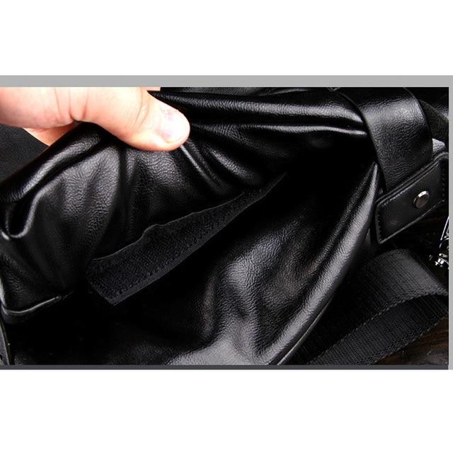 New Brand kangaroo men's leather messenger bags business vintage crossbody bag men shoulder bag postman briefcase male Handbags Cross Body Bags