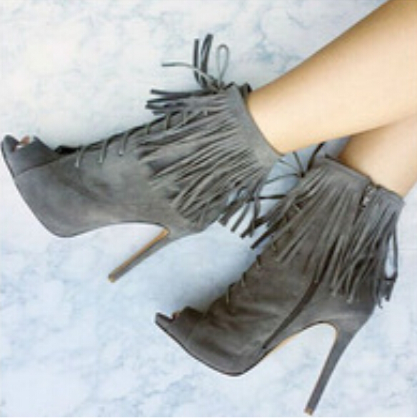713d7ccf88 Source:https://www.aliexpress.com/item/New-Arrive-Gray-Color-Cool-Fringe-Bootie-high- Heels-grey-suede-lace-up-peep-toe-ankle/32459302730.html