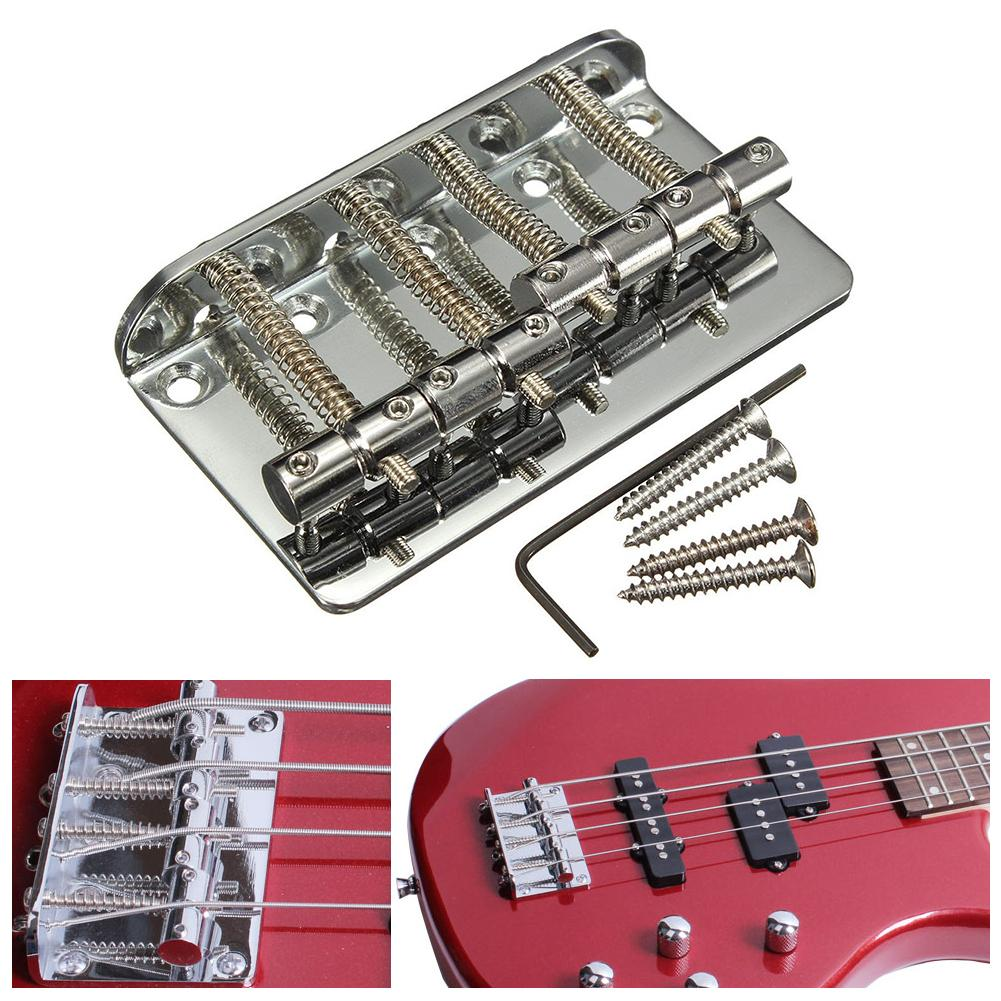 4 0025 Chrome Bridge Saddles for 4-string Standard Fender P//Jazz Bass®